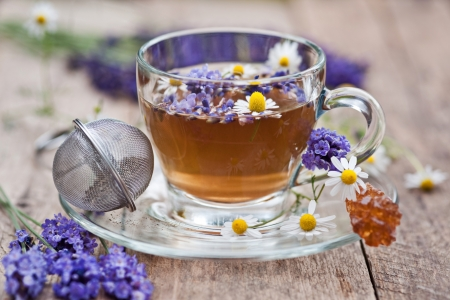 lavender and chamomile tea  photo