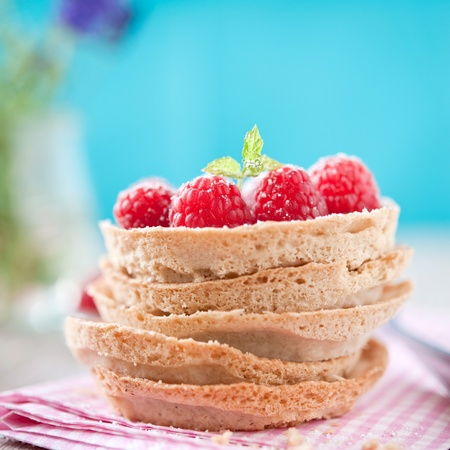 tartlet: raspberry tartlets