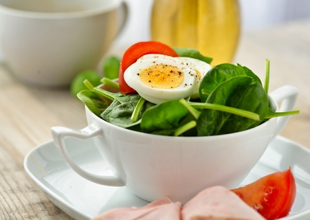 spinach salad: spinach salad  Stock Photo