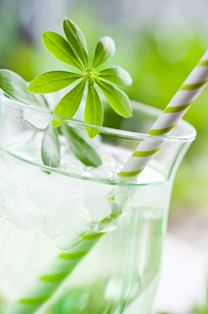 sweet woodruff: glass of woodruff punch