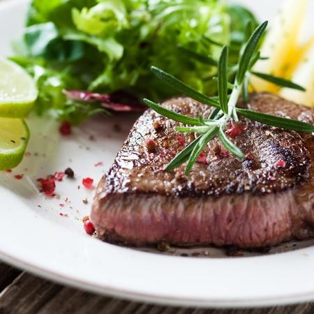 steak medium rare photo