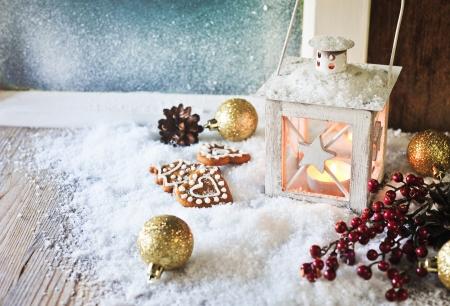 romantic winter decoration Banque d'images
