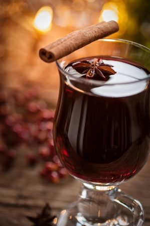 mulled wine: glass of mulled wine Stock Photo