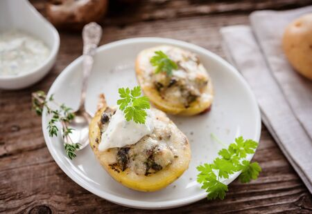 stuffed potatoes Banco de Imagens