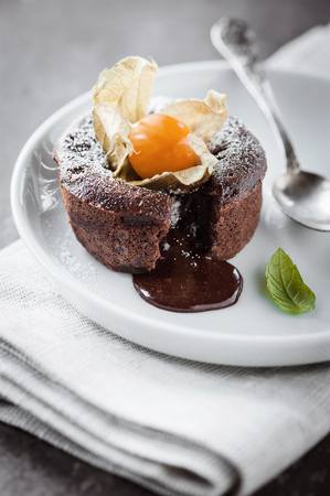 hot chocolate cake photo