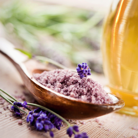 spa lavender salt  photo
