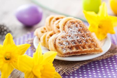 baked waffles  Archivio Fotografico