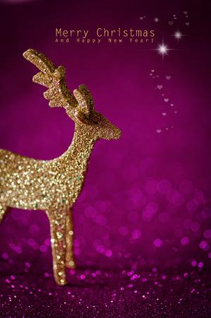 Roze kerst groeten Stockfoto - 34170174