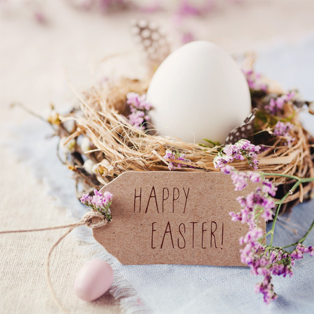 happy holidays card: Happy Easter Stock Photo