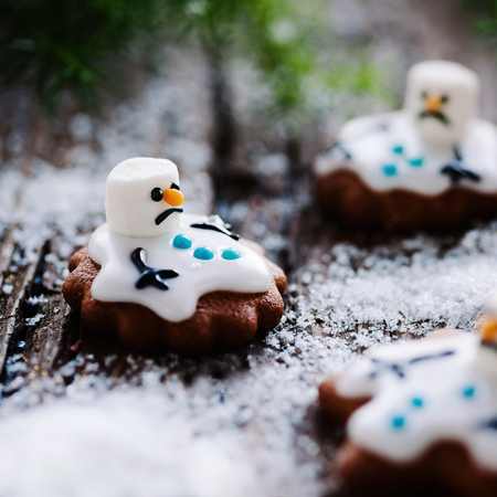 Small cookie snowman
