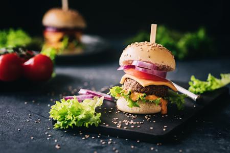 Delicious vegetarian hamburger
