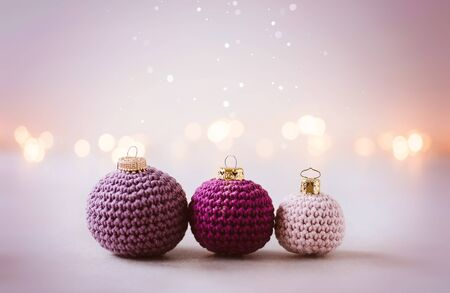 Beautiful crocheted christmas balls for your child friendly christmas decoration at home