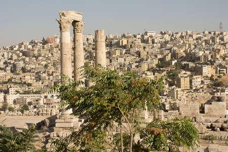 Romans ruins - Ancient Roman city Amman citadel, Jordan