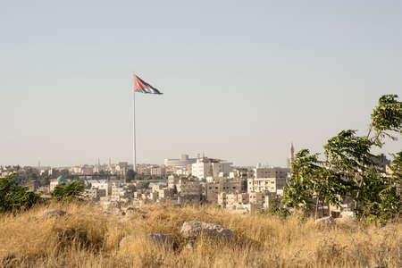 Jordan flag in Amman