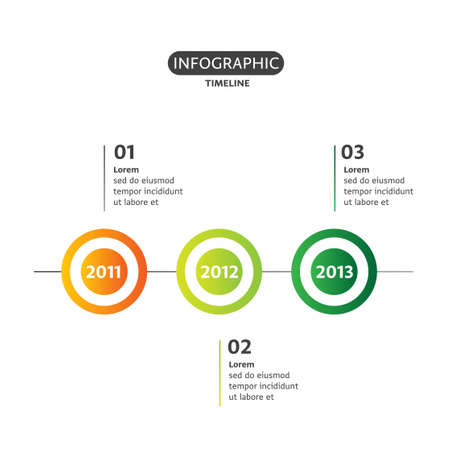Business concept timeline information graphic template realistic banque dimages business concept timeline information graphic template realistic paper steps infographic banner which can be used for workflow layout fbccfo Images