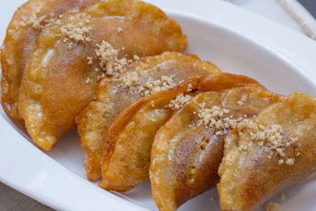Qatayef dough in Ramadan month, Arabic sweets Stock Photo