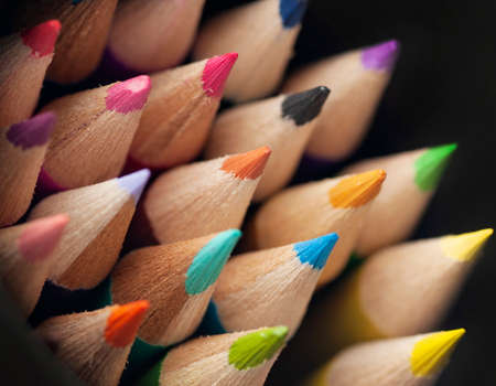 Color pencils, Close up, back to school, art pencils Stock Photo - 107854599
