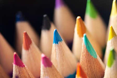 Color pencils, Close up, back to school, art pencils Stock Photo - 107854604
