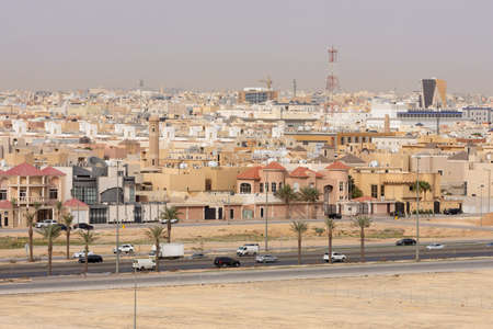 Riyadh, Saudi Arabia, KSA - February 18, 2020 north of Riyadh city view of Saudi Arabia houses Editorial