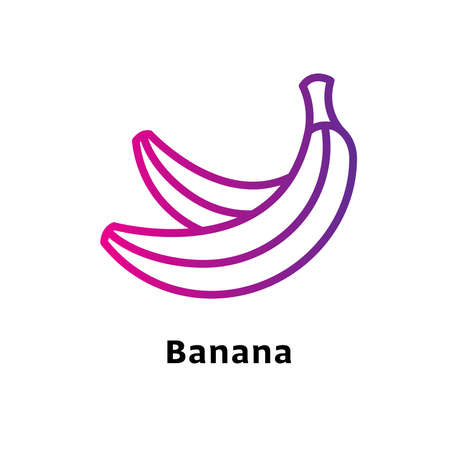 Banana written black color with amazing purple gradient icon