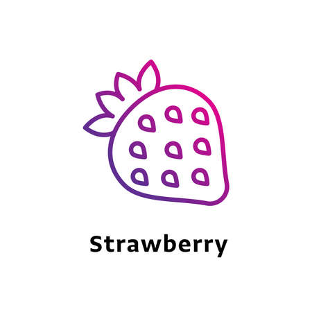 Strawberry written black color with amazing purple gradient icon