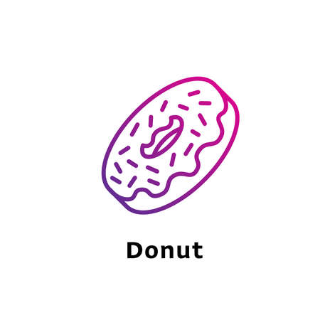 Donut written black color with amazing purple gradient icon