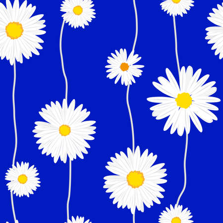 for print: Seamless daisies pattern. Illustration for print or web design