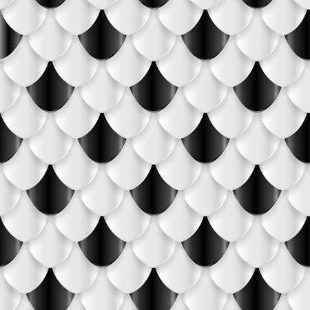 Las escalas de pescados patrón transparente. textura geométrica para la impresión o diseño web.