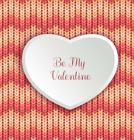 Valentines day background with stipe texture and heart. Vector illustration for web or print design. Invitation, banner, brochure, header, wallpaper, flyer