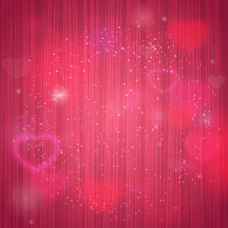 Valentines day background with stipe texture and heart. Vector illustration for web or print design. Invitation, banner, brochure, header, wallpaper.