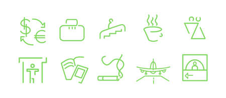 dispensing: Airport icons Illustration