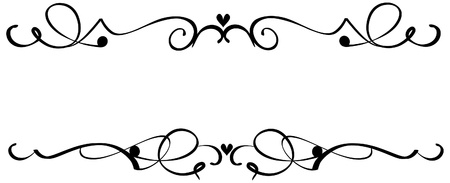 scrollwork: page rule assortment Illustration