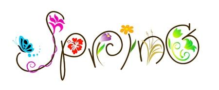 word art: Primavera Vectores