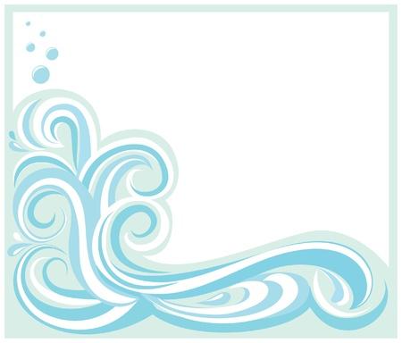 surf wave: Wave FrameBorder