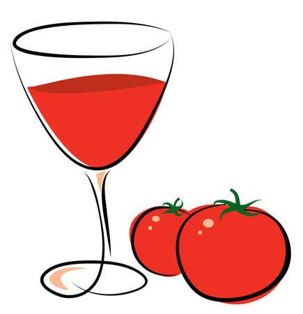 Tomato Juice Vector
