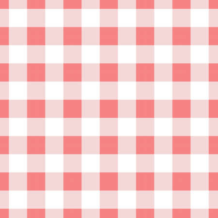 Seamless pattern background vintage geometric red texture gingham. Stockfoto
