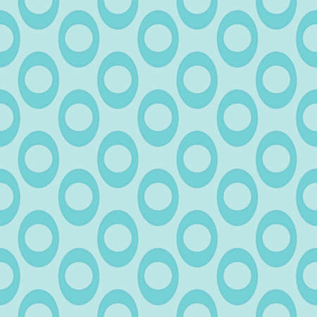 Seamless Pattern of Elements Made of Dots Inside Ellipses In Blue Tones. Texture Background.