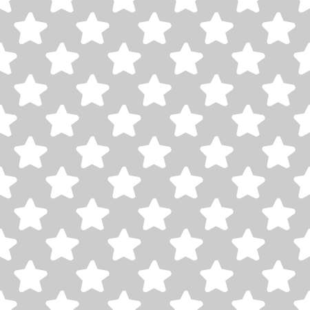 Seamless Neutral Grey Tones Pattern Of Repeated Stars Close To Each Other. It can be used for Digital Scrap Booking, Wallpaper, Packaging Projects.