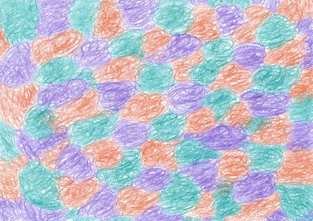 The abstract background is depicted in three colors: violet, orange, green Reklamní fotografie