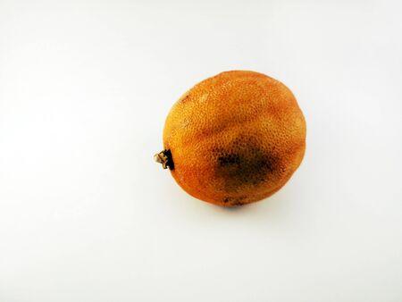 Dried whole lemon on a white background, isolate. Dry Lemon