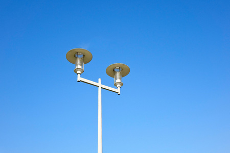 Street Lamp Under The Blue Sky Background