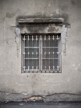 mottled: Old windows and mottled walls Stock Photo