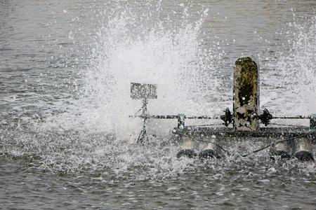 aeration: Aeration turbine in farming aquatic Stock Photo