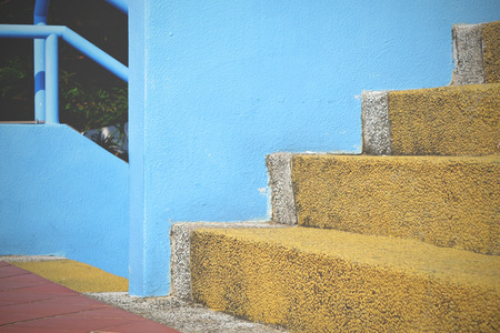 Background of the colorful stairs