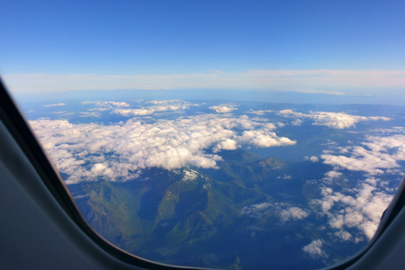 Looking Out Through Airplane Window