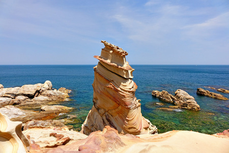 Seascape of nanya peculiar stone