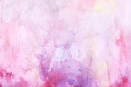 Watercolor abstract background. Grunge light pink, purple and sky white watercolor background. Smooth pastel colors wet effect hand drawn canvas. Stock fotó