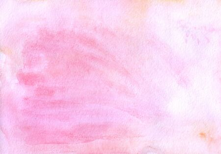 Excellent delicate pink watercolor background. Watercolor pink background for your text or design. Abstract pink watercolor background.