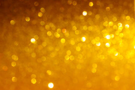 Abstract of golden shiny bokeh