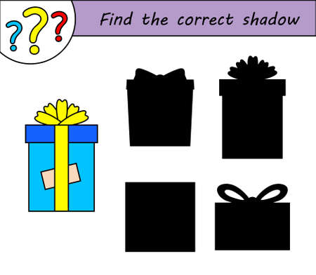 Find the correct shadow. Children educational game.